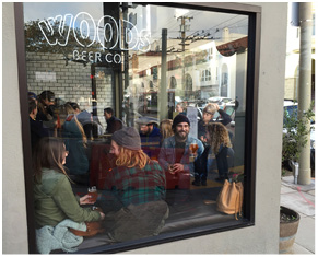 People getting cozy at Woods Cervecerîa.